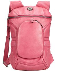 Céline Pink Leather Backpack