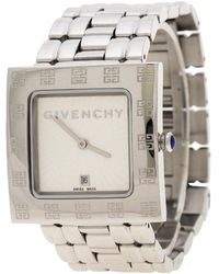 Givenchy Silver White Apsaras Ad800217 Square Women's Wristwatch 31 Mm - Metallic