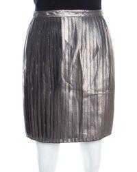 Tory Burch Metallic Pleated Audra Skirt