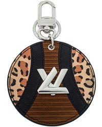 Louis Vuitton Monogram Canvas Corduroy Patchwork Bag Charm - Brown