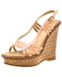 Bottega Veneta \n Pink Leather Sandals