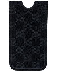 Louis Vuitton Damier Graphite Canvas Iphone 4 Cover - Black