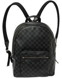Louis Vuitton Damier Graphite Canvas Josh Backpack - Black