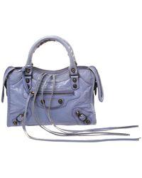 Balenciaga Glycine Leather Mini Classic City Bag - Purple