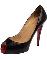 Christian Louboutin Black Leather New Prive Court Shoes
