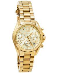 Michael Kors Yellow Gold Plated Stainless Steel Runway Mk5798 Wristwatch - Metallic