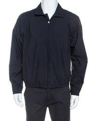 Prada Midnight Blue Zip Front Harrington Jacket