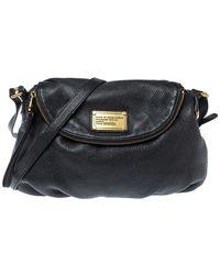 Marc By Marc Jacobs Black Leather Classic Q Natasha Crossbody Bag