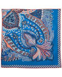 Hermès Hermès Cobalt Blue Jardin De La Maharani Silk Gavroche Scarf