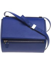 Givenchy Blue Leather Medium Pandora Box Bag