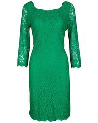 Diane von Furstenberg - Zarita Long Sleeve Lace Dress L - Lyst