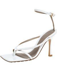 Bottega Veneta Stretch Leather Heeled Sandals - White