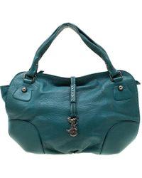 Céline Green Leather Hobo