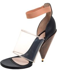 Givenchy Black Leather And Pvc Albertina Sandals