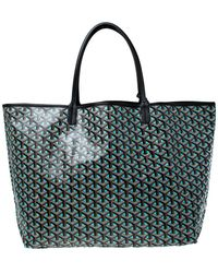 Goyard Blue/black Ine Coated Canvas St. Louis Gm Tote
