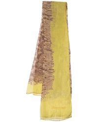 Roberto Cavalli Animal Print Lurex Detail Silk Stole - Brown