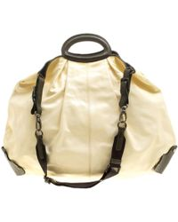 Marni Cream Patent Leather Large New Balloon Hobo - Natural