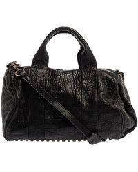 Alexander Wang Black Leather Rocco Duffle Bag