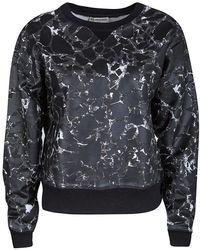 Balenciaga Black Mosaic Print Long Sleeve Crew Neck Sweatshirt