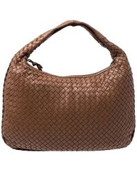 Bottega Veneta - Tan Intrecciato Nappa Leather Medium Veneta Hobo - Lyst
