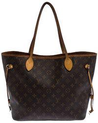 Louis Vuitton Monogram Canvas Neverfull Mm Bag - Brown