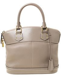 Louis Vuitton Verone Suhali Leather Lockit Pm Bag - Gray