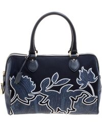 Etro - Paisley Embroidered Coated Canvas Satchel - Lyst
