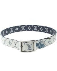 Louis Vuitton White Cloth Belt
