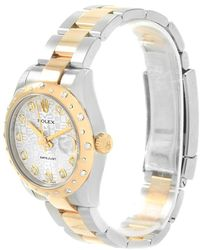 Rolex - Jubilee 18k Yellow Gold Diamond Datejust Women's Wristwatch 31mm - Lyst