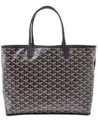 Goyard Brown/black Ine Coated Canvas St. Louis Pm Tote - Multicolour