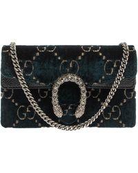 Gucci Blue GG Velvet Super Mini Dionysus Crossbody Bag - Green