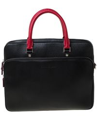 Ferragamo - Black/red Leather Laptop Bag - Lyst
