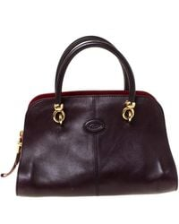 Tod's Tods Dark Brown Leather Sella Satchel