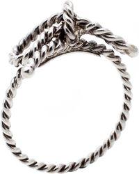 Tiffany & Co. Twist Bow Sterling Silver Ring Size 51 - Metallic