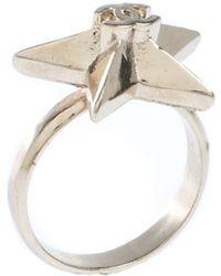 Chanel Cc Star Gold Tone Ring Size 50.5 - Metallic