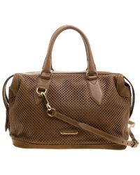 f264c576f270 Burberry - Perforated Leather Medium Gilmore Satchel - Lyst