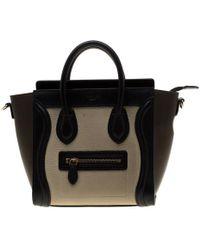 Céline - Tri Color Leather Nano Luggage Tote - Lyst