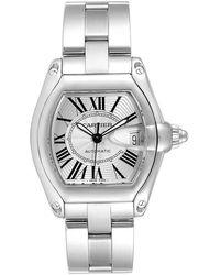 Cartier Silver Stainless Steel Roadster W62025v3 Men's Wristwatch 38 X 43mm - Metallic