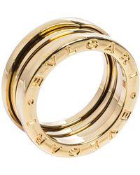 BVLGARI B.zero1 18k Yellow Gold 3-band Ring