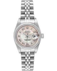 Rolex Mop Stainless Steel Datejust 79174 Wristwatch 26 Mm - White
