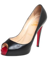 Christian Louboutin Black Leather Very Prive Court Shoes