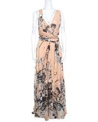 Roberto Cavalli - Silk Maxi Dress - Lyst