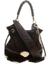 Lancel - Brown Suede And Leather Le Brigitte Bardot Hobo - Lyst