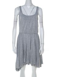 Marc By Marc Jacobs Gray Marled Jersey Layered Skirt Short Dress M