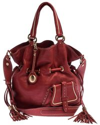 Lancel Red Leather Premier Flirt Bucket Bag