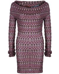 Missoni Multicolor Off-shoulder Knit Dress M