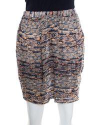 Isabel Marant Multicolour Aztec Print Fil Coupe Mini Skirt M