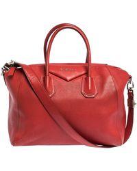 Givenchy Red Leather Medium Antigona Satchel