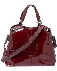 Cartier Red Patent Leather Marcello De Satchel