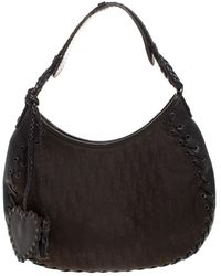 Dior Dark Brown Issimo Nylon Hobo